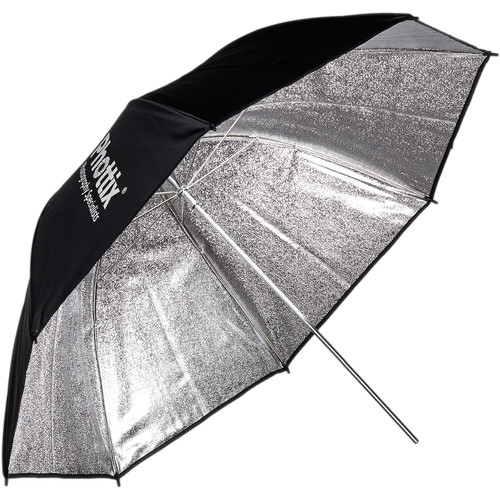 "Phottix 50"" Para-Pro ESF Reflective Umbrella (Patterned Silver/Black)"
