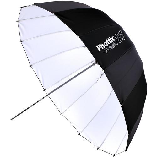 """Phottix Premio Reflective Umbrella (White Interior, 33"""")"""