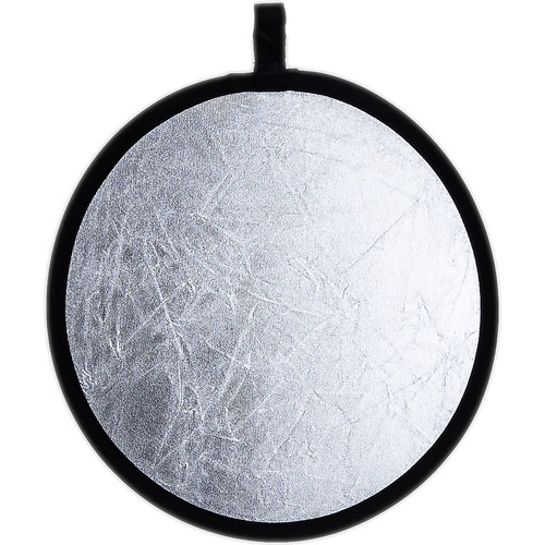 "Phottix 2-in-1 Collapsible 12"" Reflector (White/Silver)"