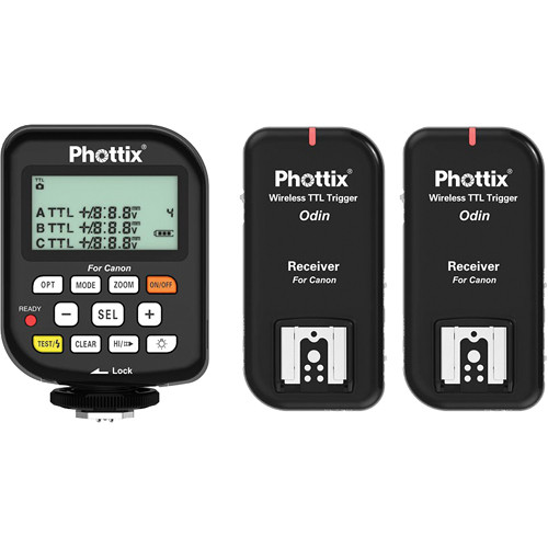 Phottix Odin Wireless TTL Trigger Set with Two Receivers for Canon