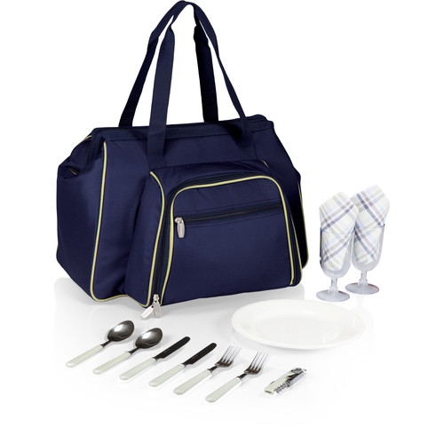Picnic Time Toluca Cooler Tote (Navy with Tan)
