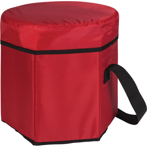 Picnic Time Bongo Cooler Tote & Seat (12 Quart, Red)