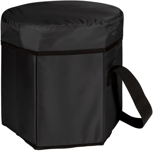 Picnic Time Bongo Cooler Tote & Seat (12 Quart, Black)