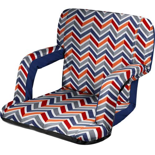 Picnic Time Ventura Recliner Seat (Vibe Pattern)