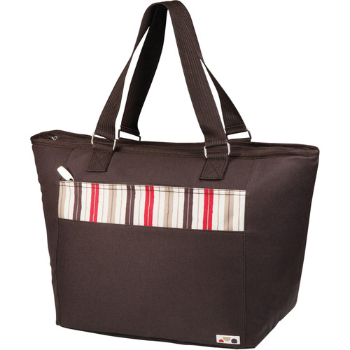 Picnic Time Topanga Cooler Tote (Moka (Brown with Striped Band), 33L)