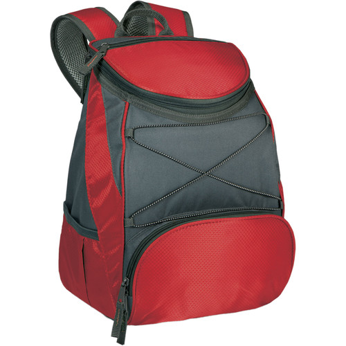 Picnic Time PTX Cooler Backpack (Red/Dark Gray, 13L)