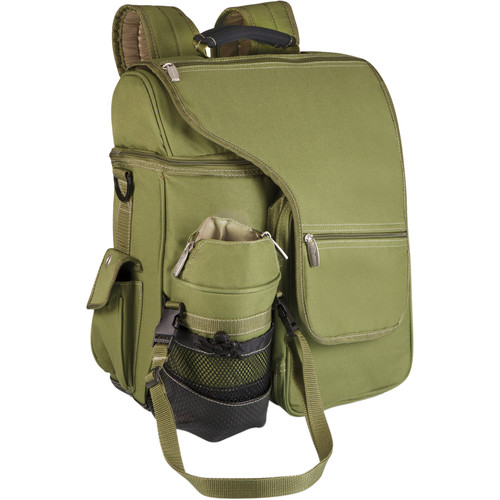 Picnic Time Turismo Cooler Backpack (Olive Green and Tan, 25L)