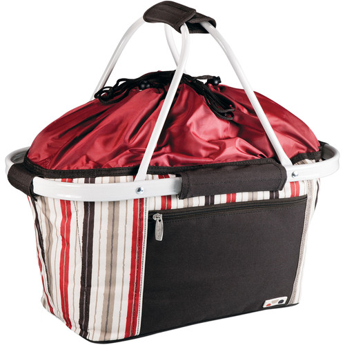 Picnic Time Metro Basket Cooler (Moka (Red/White/Brown Stripes))