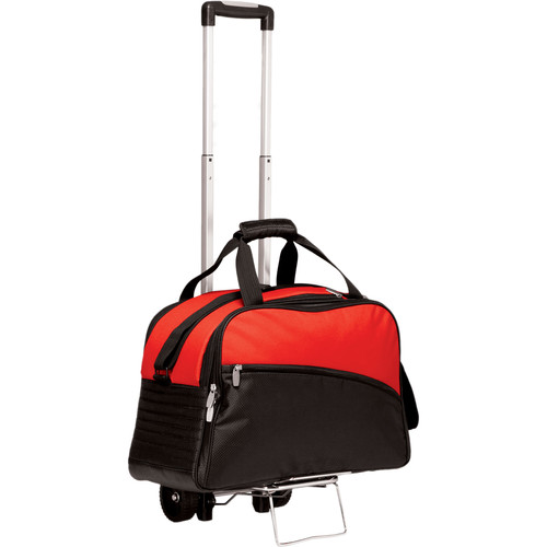 Picnic Time Stratus Cooler with Trolley (Red)