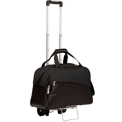 Picnic Time Stratus Cooler with Trolley (Black)