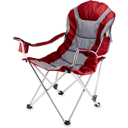 Picnic Time Reclining Camp Chair (Dark Red)
