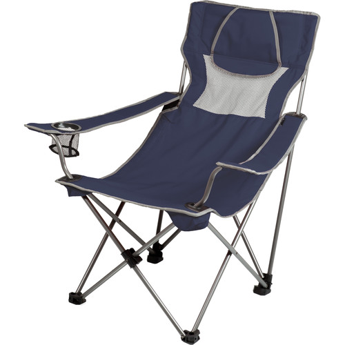 Picnic Time Campsite Chair (Navy/Gray)