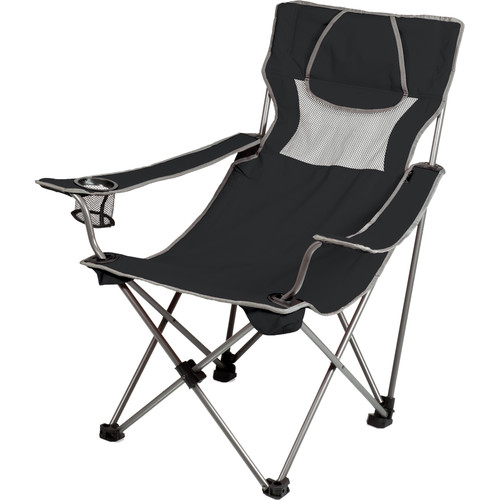 Picnic Time Campsite Chair (Black/Gray)
