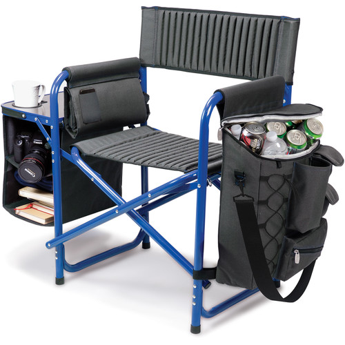 Picnic Time Fusion Camp Chair (Dark Gray/Blue)
