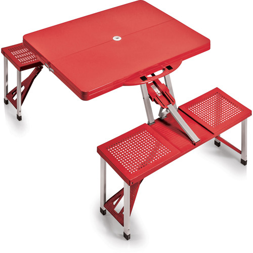 Picnic Time Portable Picnic Table with Benches (Red)