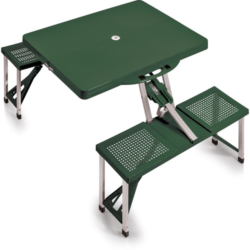 Picnic Time Portable Picnic Table with Benches (Hunter Green)