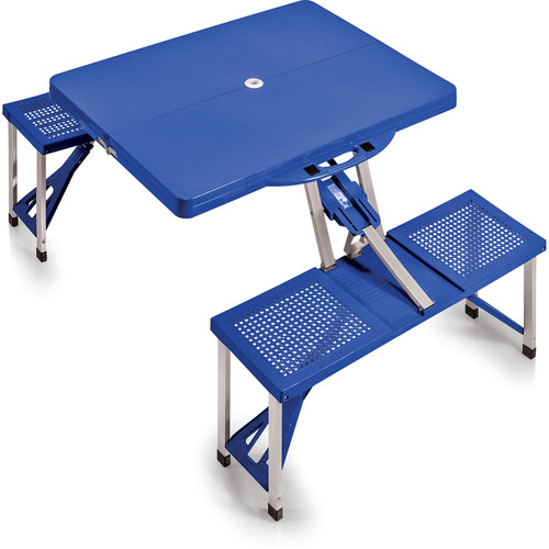 Picnic Time Portable Picnic Table with Benches (Royal Blue)