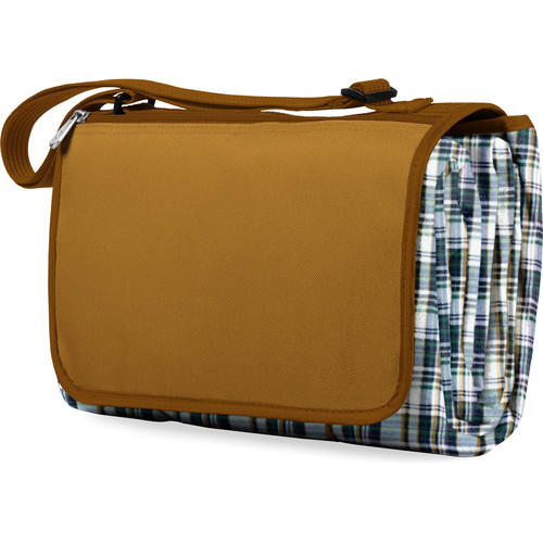 Picnic Time Blanket Tote (English Plaid & Camel)