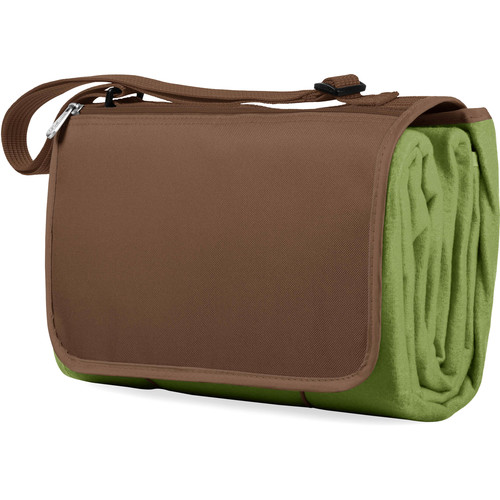 Picnic Time Blanket Tote (Pine Green & Camel Brown)