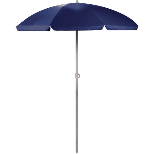 Picnic Time Portable Beach/Picnic Umbrella (Navy)