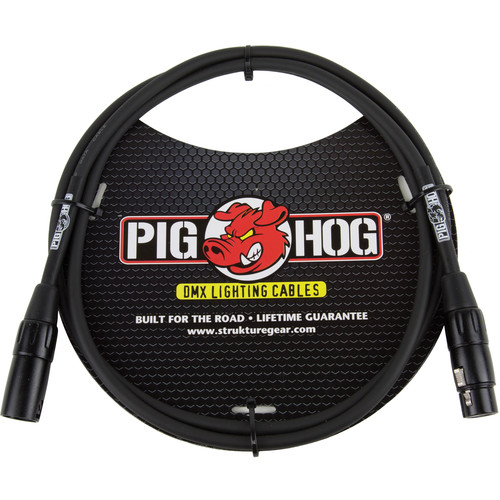 Pig Hog B&H Stage & DJ Lighting Essentials Accessory Kit with Pig Hog DMX Cable (5'), Clamp, and Safety Cable