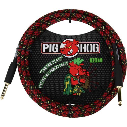 Pig Hog Vintage-Series Woven Instrument Cable (Tartan Plaid, 10')