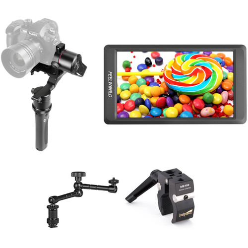 """Pilotfly H2-45 3-Axis Handheld Gimbal Kit with 5.5"""" Monitor and Arm"""