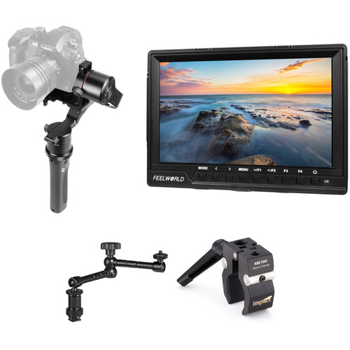 """Pilotfly H2-45 3-Axis Handheld Gimbal Kit with 7"""" Monitor and Arm"""