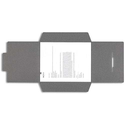 Pina Zangaro Open-Flap Folders (3-Pack, Dark Gray)