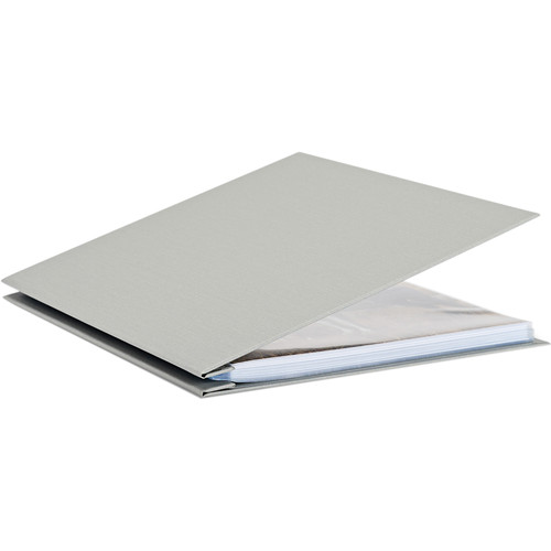 "Pina Zangaro Bex 11 x 14"" Screw Post Binder (Portrait Orientation, Gray, 20 Pages)"