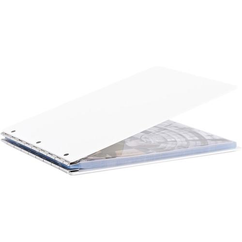 "Pina Zangaro Vista 11 x 8.5"" Screw Post Binder (Landscape Orientation, Snow)"