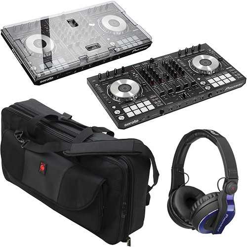 pioneer ddj sx serato software dj controller with cover and case. Black Bedroom Furniture Sets. Home Design Ideas
