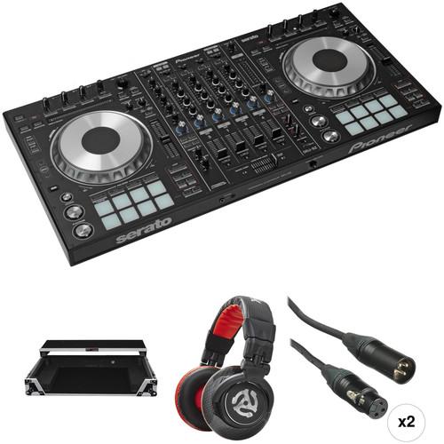 Pioneer DJ DDJ-SZ Professional DJ Controller Kit with Flight Case, Headphones, and Cables