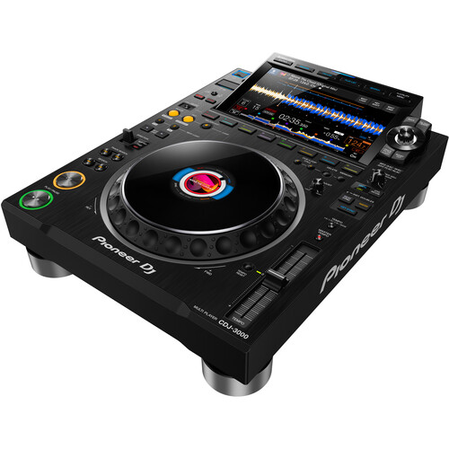 Pioneer DJ CDJ-3000 High-Resolution Pro-DJ Multiplayer (Black)