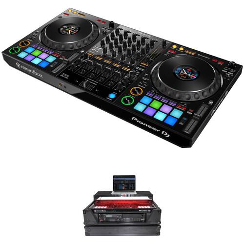 Pioneer DJ DDJ-1000 4-Channel rekordbox dj Controller Kit with Flight Case