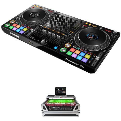 Pioneer DJ DDJ-1000SRT Serato DJ Controller Kit with Flight Case with Extra 2 RU Rack Space