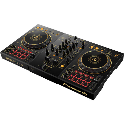 Pioneer DJ - DDJ-400-N Portable 2-Channel rekordbox DJ Controller (Black and Gold)