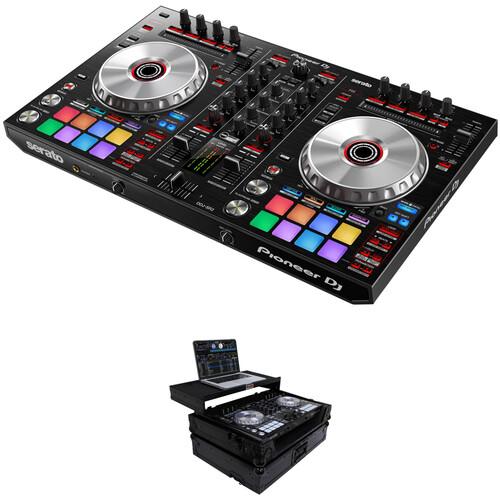 Pioneer DJ DDJ-SR2 Serato DJ Controller Kit with Road Case and Gliding Laptop Platform