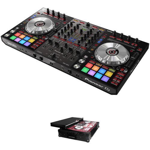 Pioneer DJ DDJ-SX3 Serato DJ Controller Kit with Flight Case with Laptop Shelf