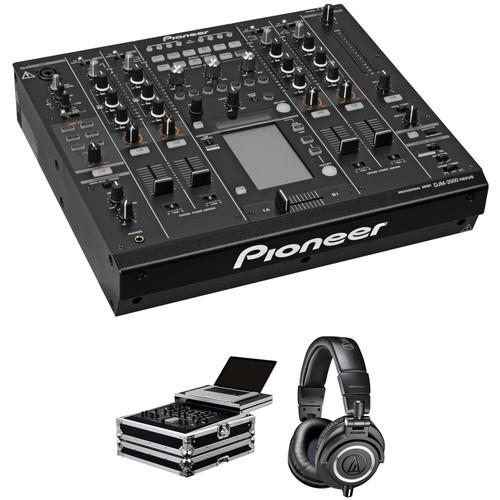 Pioneer DJ DJM-2000NXS Kit with Glide Style Flight Case and Headphones