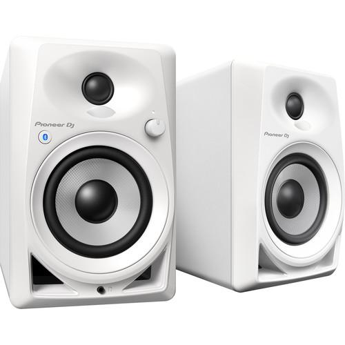 "Pioneer DJ DM-40BT-W Bluetooth, Active 4"" Desktop Monitor Speakers (White)"