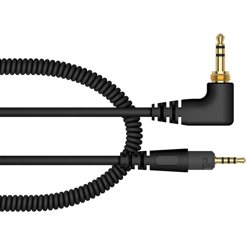 Pioneer DJ HC-CA0701-K Coiled Cable for HDJ-S7 Headphones (Black, 3.9')