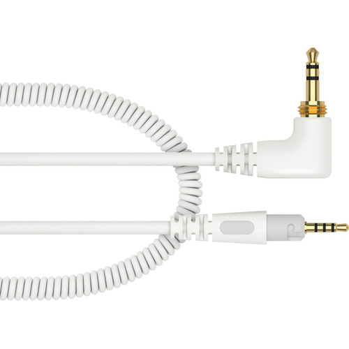 Pioneer DJ HC-CA0701-W Coiled Cable for HDJ-S7 Headphones (White, 3.9')