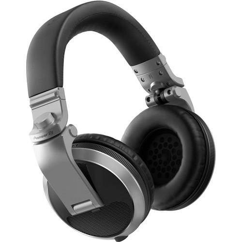 Pioneer DJ HDJ-X5 Over-Ear DJ Headphones (Silver)