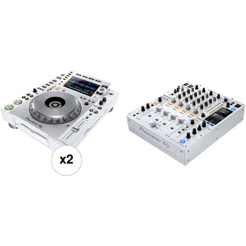Pioneer DJ Limited-Edition White NXS2 DJ Performance Kit with DJM-900NXS2 and 2 x CDJ2000NXS2
