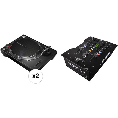 Pioneer DJ PLX-500-K Kit w/ Two Turntables and a Mixer
