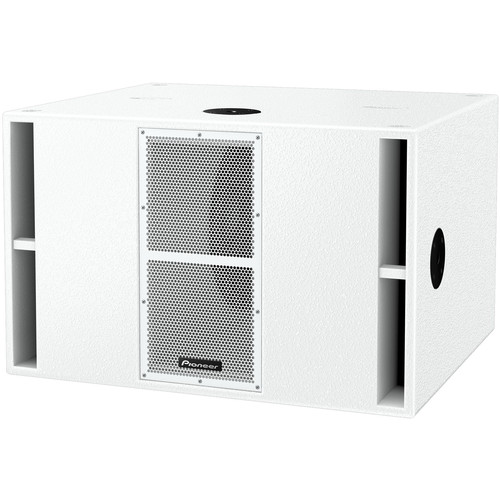 "Pioneer DJ Dual 15"" Driver Quasi-Bandpass Subwoofer (White)"