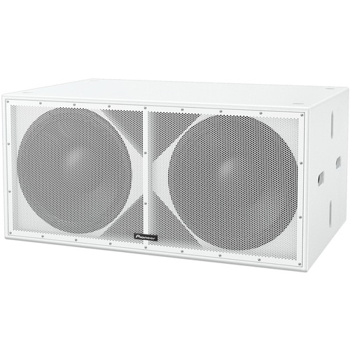 "Pioneer DJ Dual 18"" Driver Quasi-Bandpass Subwoofer (White)"