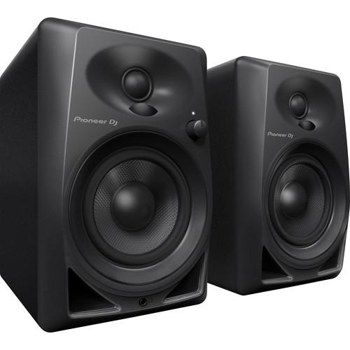 "Pioneer DJ DM-40 - 21W 4"" Two-Way Active Monitor (Pair, Black)"
