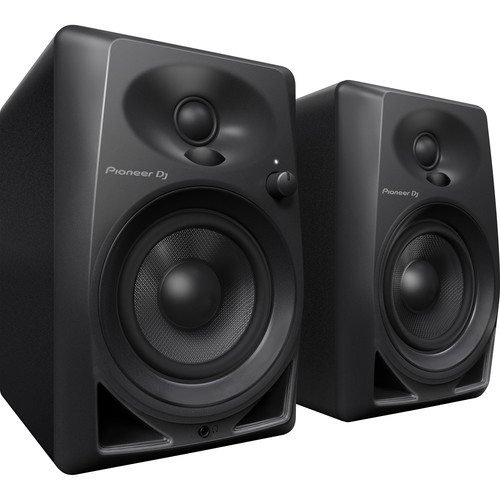 "Pioneer DJ DM-40 - 21W 4"" Two-Way Active Monitor (Pair, Black)"